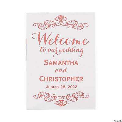 Personalized Welcome to Our Wedding Sign Image Thumbnail