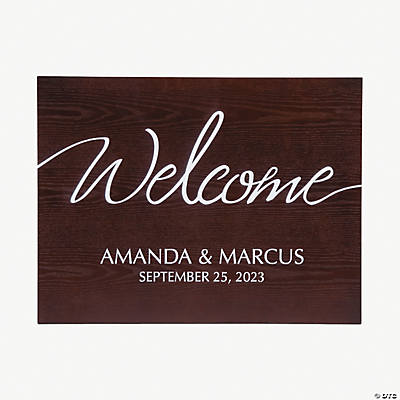 Personalized Welcome to the Wedding Sign Image Thumbnail