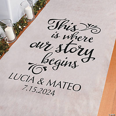 Personalized Where Our Story Begins Aisle Runner Image Thumbnail