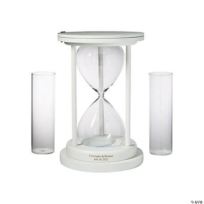 Personalized White Hourglass Unity Sand Ceremony Set Audio Thumbnail