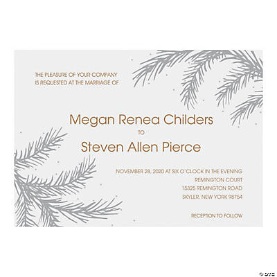 Personalized Winter Wedding Invitations Image Thumbnail
