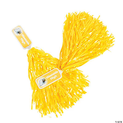 Personalized Yellow Pom-Poms - 24 Pc. Image Thumbnail