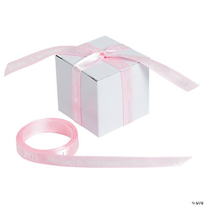"Pink Personalized Ribbon - 3/8"" Image Thumbnail"