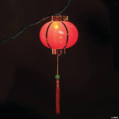 Plastic Chinese Lantern Light Set
