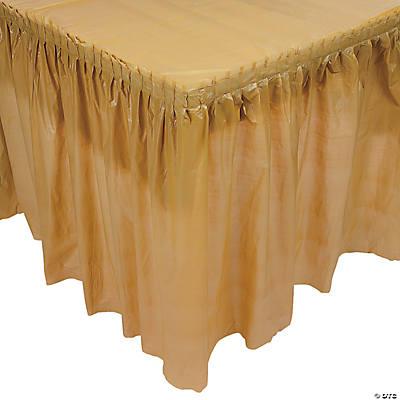 89d5e44c0 Plastic Gold Pleated Table Skirt