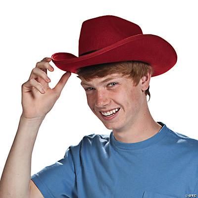 cb3c087d49b Polyester Adult s Burgundy Cowboy Hat