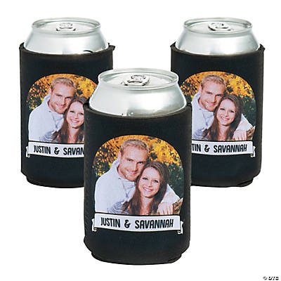 Premium Custom Photo Ribbon Can Coolers