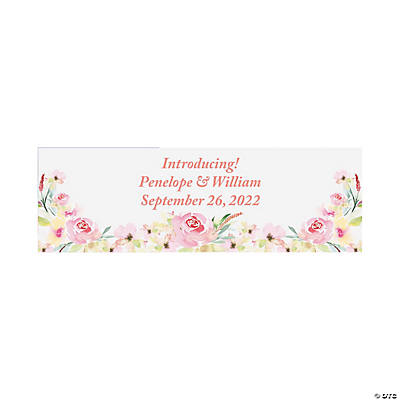 Pretty Garden Wedding Custom Banner - Small Image Thumbnail