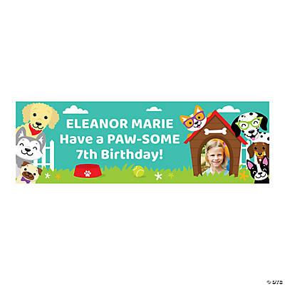Puppy Party Photo Custom Banner - Small Image Thumbnail