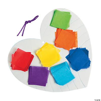 Rainbow Heart Tissue Paper Craft Kit