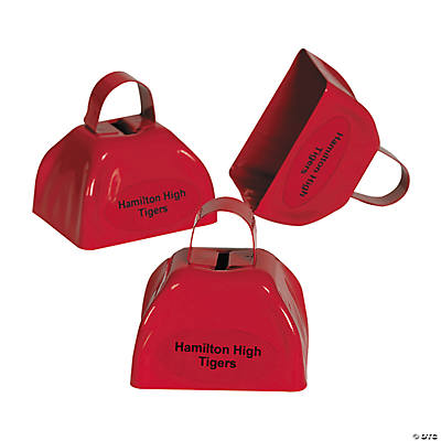 Red Personalized Cowbells