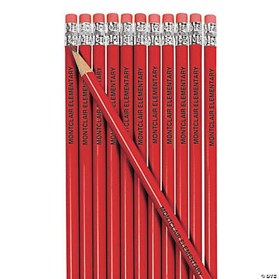 Red Personalized Pencils Image Thumbnail