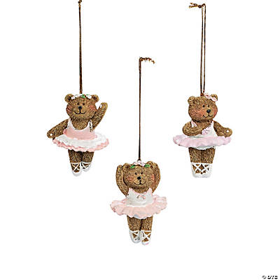 resin ballerina bear christmas ornaments