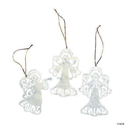 resin silhouette angel christmas ornaments