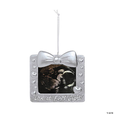 Resin Ultrasound Picture Frame Christmas Ornament