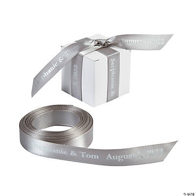 "Silver Personalized Ribbon - 5/8"" Image Thumbnail"