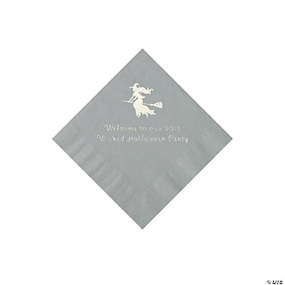 Silver Witch Personalized Napkins with Silver Foil - Beverage Image Thumbnail