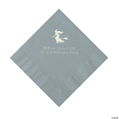 Silver Witch Personalized Napkins with Silver Foil – Luncheon Image Thumbnail
