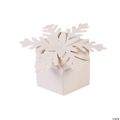 Snowflake Favor Boxes from Oriental Trading