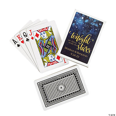 Starry Night Wedding Playing Cards with Personalized Box Image Thumbnail