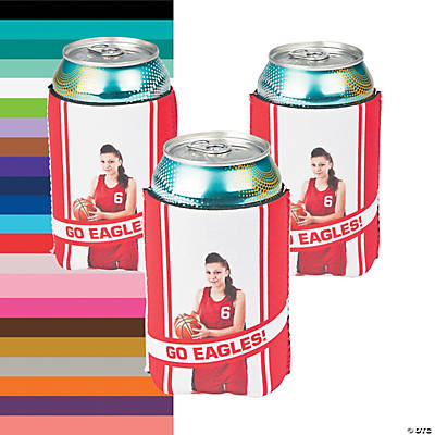 Team Spirit Custom Photo Can Coolers Image Thumbnail