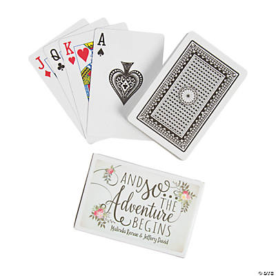 The Adventure Begins Wedding Playing Cards with Personalized Box