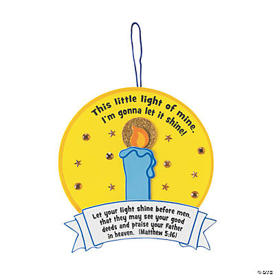 "This Little Light of Mine"" Sign Craft Kit"