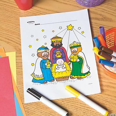 Three Wisemen Free Printable Coloring Page Oriental Trading