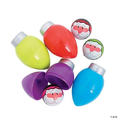 Christmas Light Bulbs.Toy Filled Christmas Light Bulbs