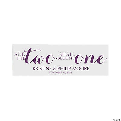 Two Become One Wedding Custom Banner - Small Image Thumbnail