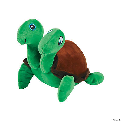 Two Headed Stuffed Turtle