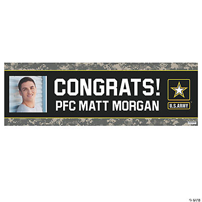 U.S. Army<sup>&#174;</sup> Congrats Photo Custom Banner - Medium Image Thumbnail