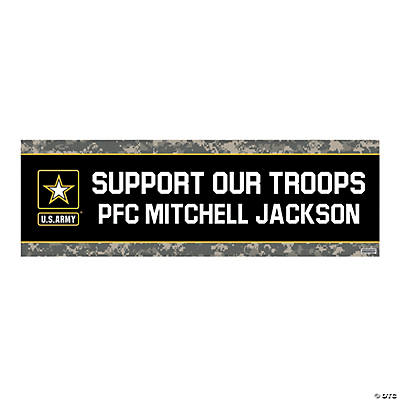 U.S. Army<sup>&#174;</sup> Support Our Troops Custom Banner - Medium Image Thumbnail