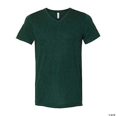 Unisex Tri-Blend Short Sleeve V-Neck T-Shirt by Bella + Canvas