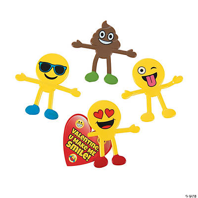 Valentines Day Emoji Bendables With Cards
