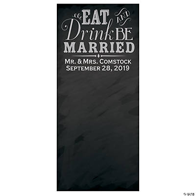 Vertical Chalkboard Wedding Photo Booth Backdrop Custom Banner Image Thumbnail
