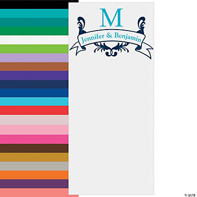 Vertical Monogram Photo Booth Backdrop Custom Banner Image Thumbnail