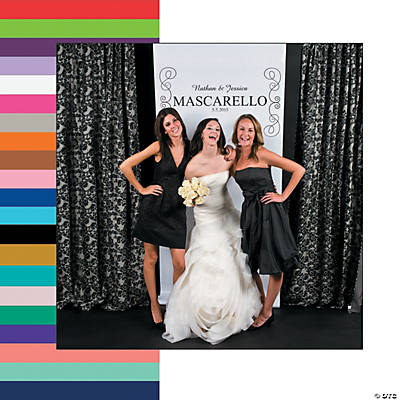 Vertical Scrollwork Photo Booth Backdrop Custom Banner Image Thumbnail