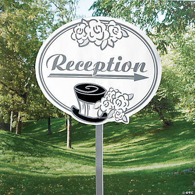Wedding Reception Yard Sign