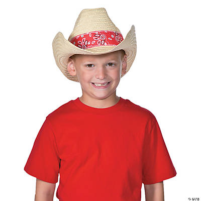Western Cowboy Hats with Red Bandana 2f228910c39