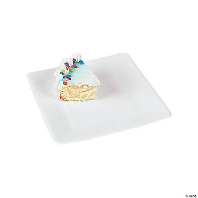 sc 1 st  Fun Express & White Square Dessert Plates