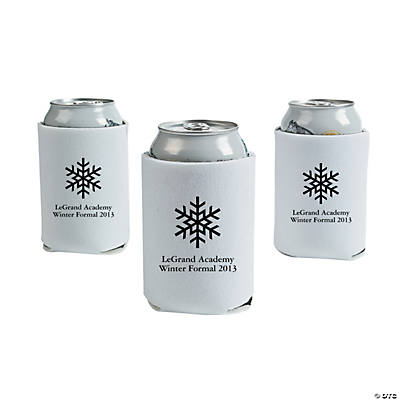 White Winter Wonderland Personalized Can Sleeves Image Thumbnail