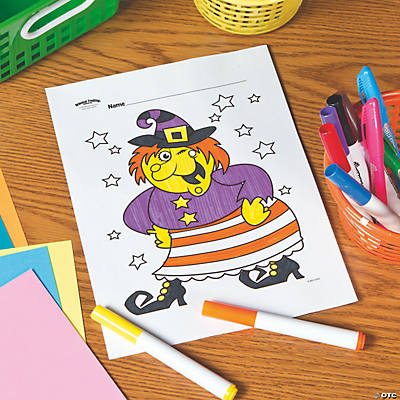 Witch Free Printable Coloring Page