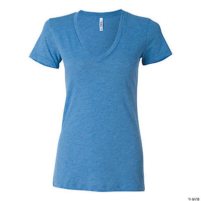 Women's Tri-Blend Deep V-Neck Tee by Bella + Canvas Image Thumbnail