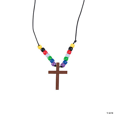 Wooden Cross Necklace Craft Kit