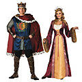Adult's Renaissance King & Queen Couples Costumes Image Thumbnail 1