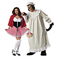 Adult's Big Bad Wolf & Red Riding Hood Couples Costumes Image Thumbnail 1