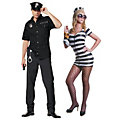 Adult's Cop & Prisoner Couples Costumes Image Thumbnail 1