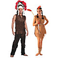 Adult's Native American Couples Costumes Image Thumbnail 1