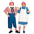 Adult's Raggedy Ann & Andy Couples Costumes Image Thumbnail 1